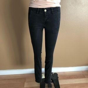 Frame Denim Black Pants Le Skinny Tuxe
